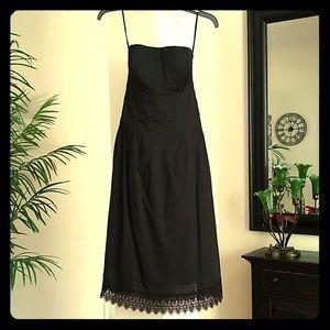 White House Black Market strapless cut-out dress 6